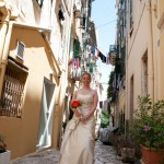 Excited Corfu bride