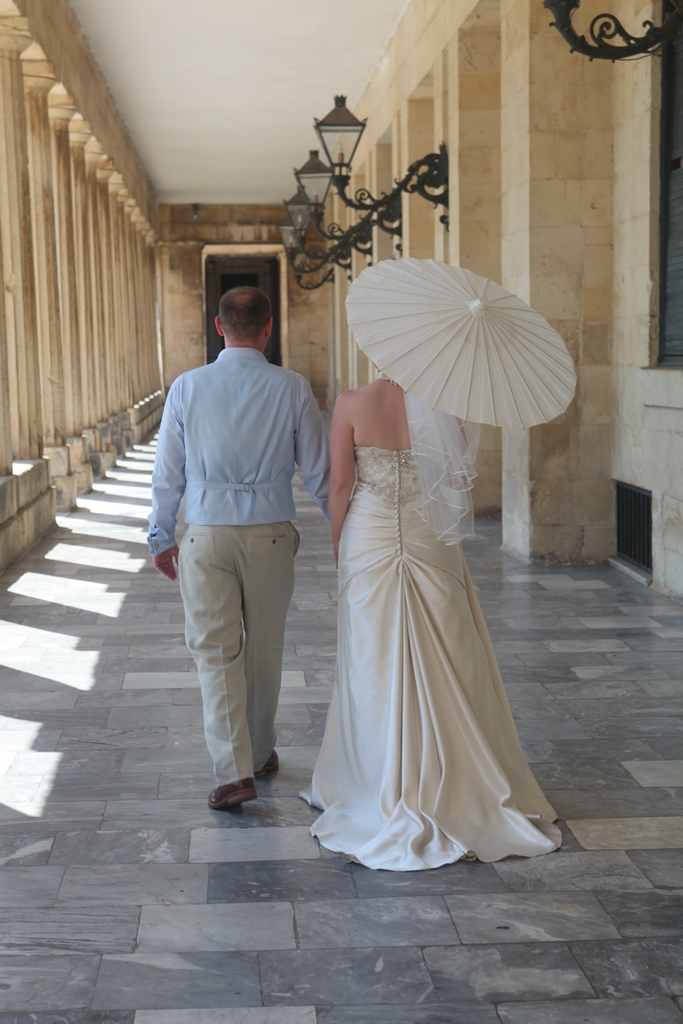 Corfu bride and groom