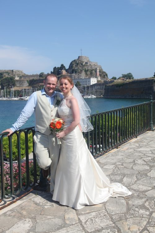 In front of the Old Fortress, Corfu