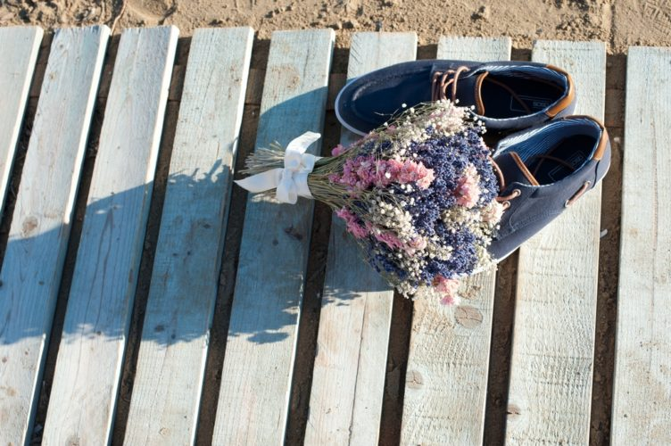 Wedding vows and sandy toes