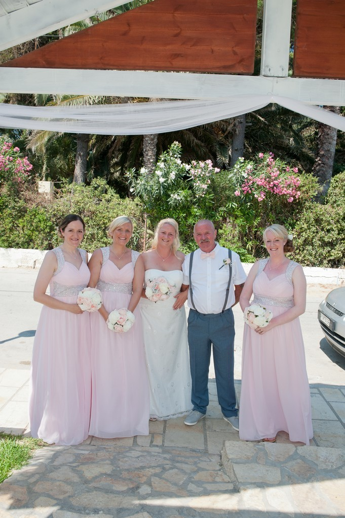 The bride and her attendants