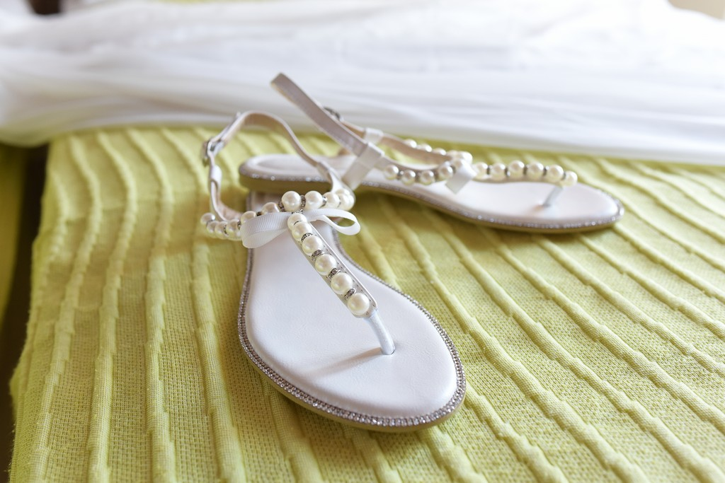 Summer wedding sandals