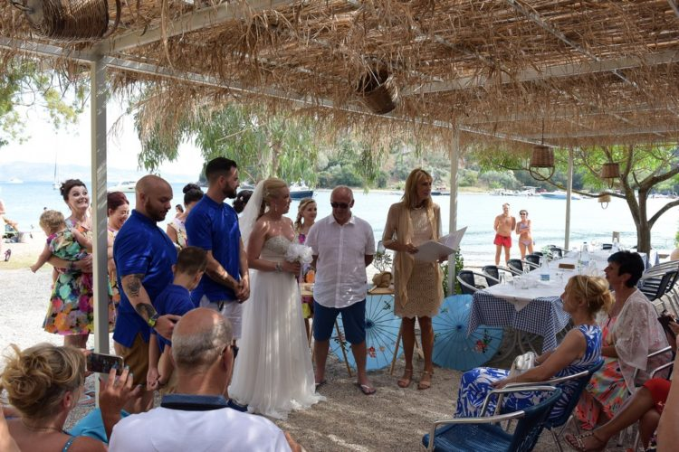 Corfu wedding ceremony San Stefanos